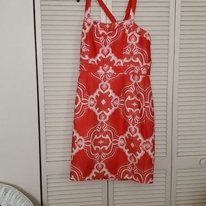 LOVELY by ADRIANNA PAPPEL red woman dress